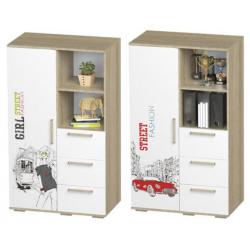 Сенди шкаф многофункциональный с ящиками 802
