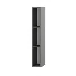 Альберо пенал открытый графит / серый настенный 200