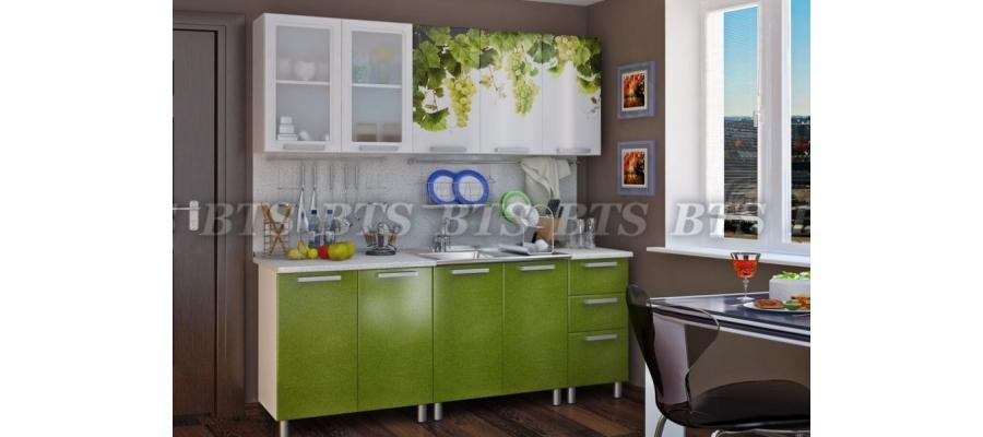 Кухня Лоза готовый комплект 2м
