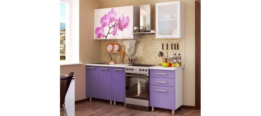 Кухня Орхидея готовый комплект 1,6м