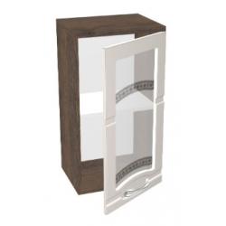 КМ Астана шкаф верхний со стеклом 400