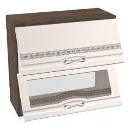 КМ Астана шкаф верхний двойной горизонтальный со стеклом 800