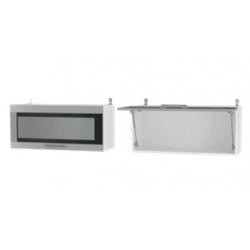 Парма шкаф верхний горизонтальный со стеклом 800