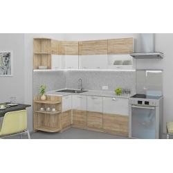 Мебель для кухни Диана угловая (дуб сонома/белый)