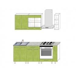 Кухня Мария 2м (текстиль 810)