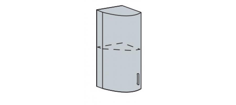 Валерия шкаф верхний торцевой радиусный 300
