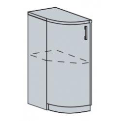Валерия шкаф нижний торцевой радиусный 300 (с цоколем)