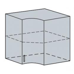 Валерия шкаф верхний угловой радиусный 590