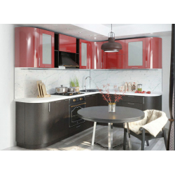 Кухня модульная - Валерия (Гранат / Венге)