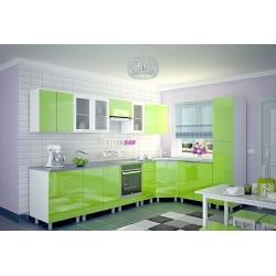 Мебель для кухни Наталья (зеленый лимон)