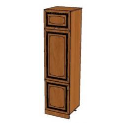Прага-2 шкаф пенал под холодильник 3-х дверный (№35)