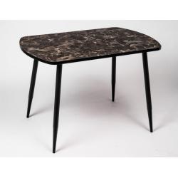 Стол кухонный мрамор Марквина черный опоры конус 1100