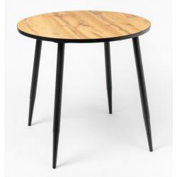 Стол кухонный круглый дуб вотан ножки конус 900