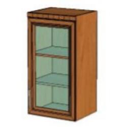 КМ Деметра шкаф верхний однодверный витраж 450 (№6)