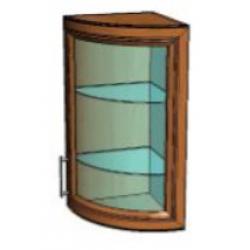 КМ Деметра шкаф верхний радиусный витраж 340 (№5)