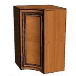 КМ Деметра шкаф верхний угловой вогнутый 600 (№3)