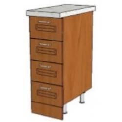КМ Деметра шкаф нижний 4 ящика 300 (№24)