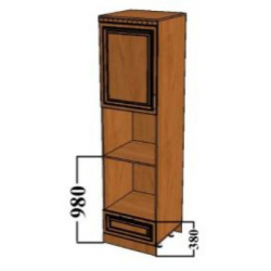 КМ Деметра шкаф пенал под технику (№1)
