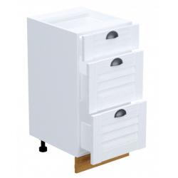 Кантри шкаф нижний 3 ящика 400