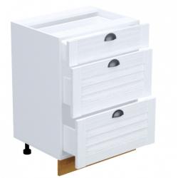 Кантри шкаф нижний 3 ящика 600