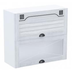 Кантри шкаф верхний двойной горизонтальный со стеклом ШСТ-80Г