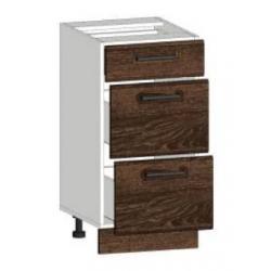 КМ Канзас шкаф нижний 3 ящика 400