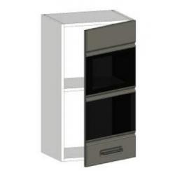 КМ Канзас шкаф верхний со стеклом 400