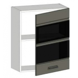 КМ Канзас шкаф верхний со стеклом 600