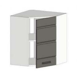 КМ Канзас шкаф верхний угловой 600