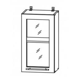 Капля глянец шкаф верхний со стеклом 300