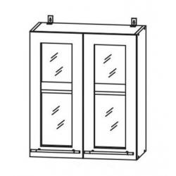 Капри шкаф верхний со стеклом 600