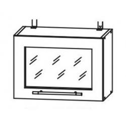 Капри шкаф верхний горизонтальный со стеклом 500
