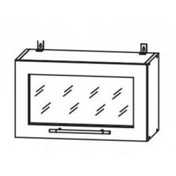 Капля глянец шкаф верхний горизонтальный со стеклом 600