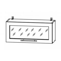 Капри шкаф верхний горизонтальный со стеклом 800