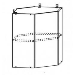 Капля глянец шкаф верхний угловой 550