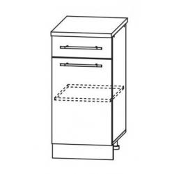 Капля глянец шкаф нижний 1 ящик 400