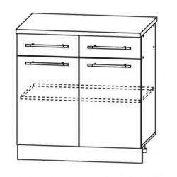 Капри шкаф нижний 2 верхних ящика 800