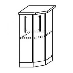 Капля глянец шкаф нижний торцевой 400