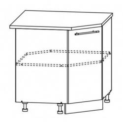 Капля глянец шкаф нижний угловой 850