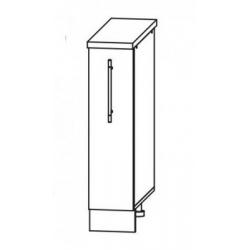 Капля глянец шкаф нижний бутылочница 200
