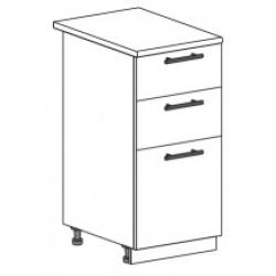 Капля глянец шкаф нижний с ящиками 400