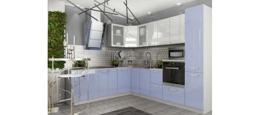 Кухня модульная - Капля глянец (6 цветов)