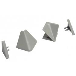 Комплект заглушек для алюминиевого бортика