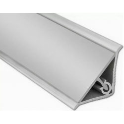 Бортик пристеночный Плато алюминиевый гладкий 3м