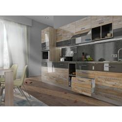 Мебель для кухни Лофт (дуб юкон/темно-серый)