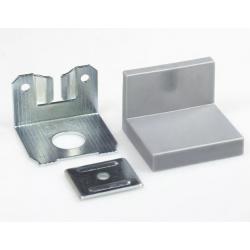 SL01.150.12 Навес для шкафов до 70 кг с заглушкой, серый