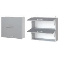 Парма шкаф верхний двойной горизонтальный 800
