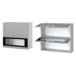 Фиджи шкаф верхний двойной горизонтальный со стеклом 800