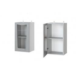 Парма шкаф верхний со стеклом 400