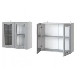 Парма шкаф верхний со стеклом 800